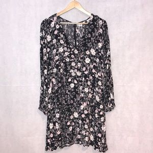 NWT GAP Midi BlackWhite Floral Dress - Size 14